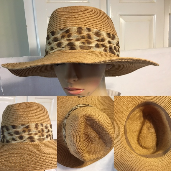 910e50b60fb676 Accessories | Medium Wide Brim Paper Blend Straw Sun Hat | Poshmark